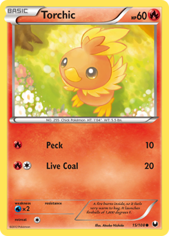Torchic card for Dark Explorers