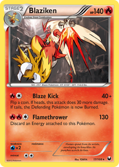 Blaziken card for Dark Explorers