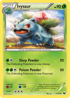 Ivysaur card for Dark Explorers