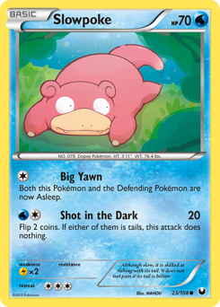 Slowpoke card for Dark Explorers