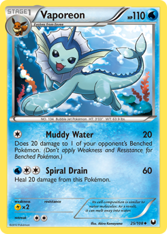 Vaporeon card for Dark Explorers
