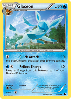 Glaceon card for Dark Explorers