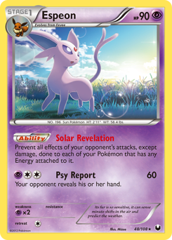 Espeon card for Dark Explorers