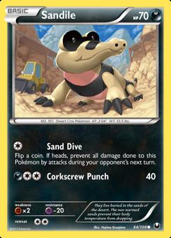Sandile card for Dark Explorers