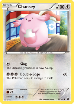 Chansey card for Dark Explorers