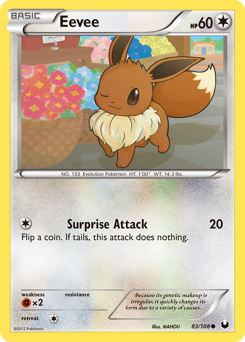 Eevee card for Dark Explorers
