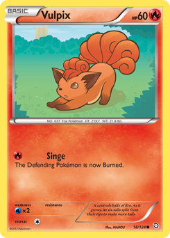 Vulpix card for Dragons Exalted
