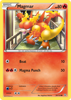 Magmar card for Dragons Exalted