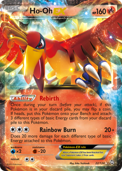Ho-Oh-EX card for Dragons Exalted