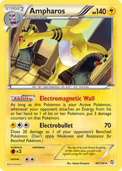 Ampharos card for Dragons Exalted