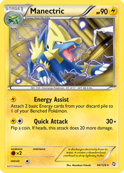 Manectric card for Dragons Exalted