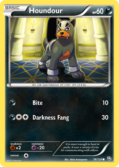Houndour card for Dragons Exalted