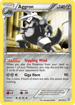 Aggron card for Dragons Exalted