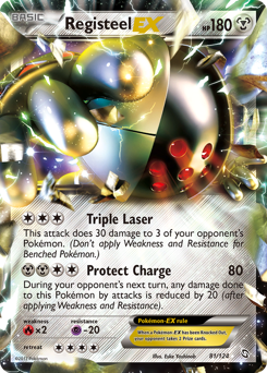Registeel-EX card for Dragons Exalted