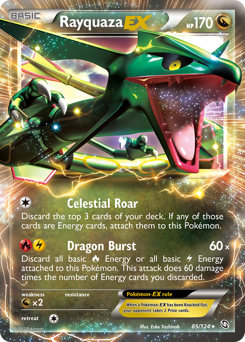 Rayquaza-EX card for Dragons Exalted