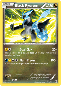 Black Kyurem card for Boundaries Crossed