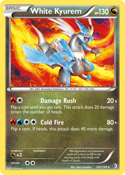 White Kyurem card for Boundaries Crossed