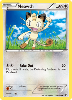 Meowth card for Boundaries Crossed