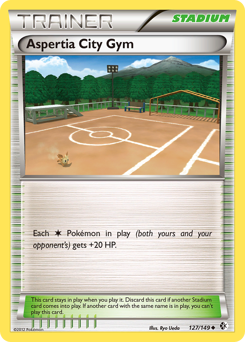 Aspertia City Gym card for Boundaries Crossed