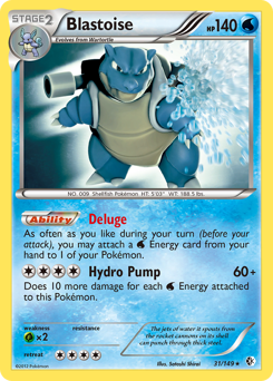 Blastoise card for Boundaries Crossed