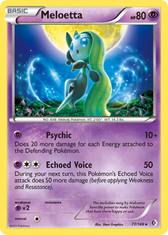 Meloetta card for Boundaries Crossed
