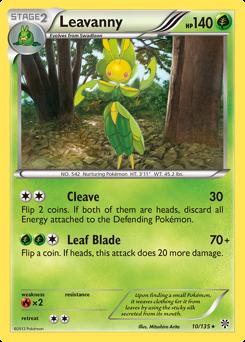 Leavanny card for Plasma Storm