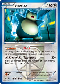 Snorlax card for Plasma Storm