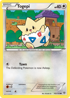 Togepi card for Plasma Storm