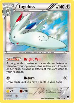 Togekiss card for Plasma Storm