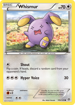 Whismur card for Plasma Storm
