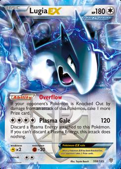 Lugia-EX card for Plasma Storm