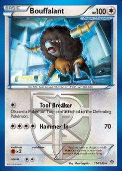 Bouffalant card for Plasma Storm