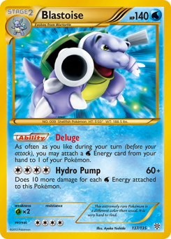 Blastoise card for Plasma Storm
