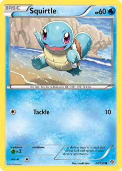 Squirtle card for Plasma Storm
