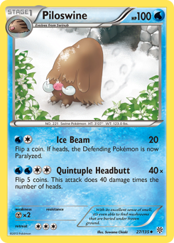 Piloswine card for Plasma Storm