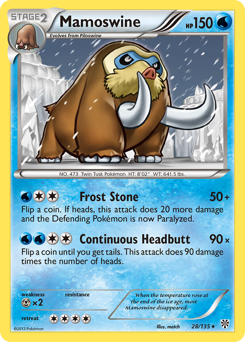 Mamoswine card for Plasma Storm