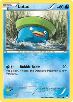 Lotad card for Plasma Storm