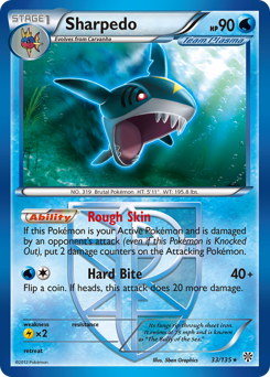Sharpedo card for Plasma Storm
