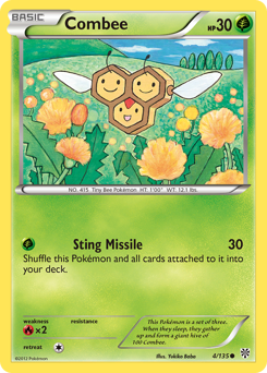 Combee card for Plasma Storm