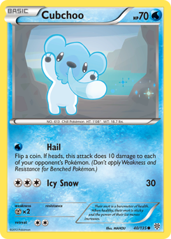 Cubchoo card for Plasma Storm