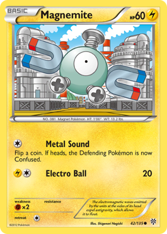 Magnemite card for Plasma Storm