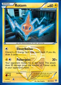 Rotom card for Plasma Storm