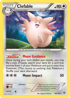 Clefable card for Plasma Storm