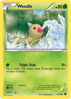 Weedle card for Plasma Freeze