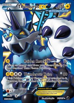 Thundurus-EX card for Plasma Freeze