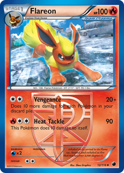 Flareon card for Plasma Freeze