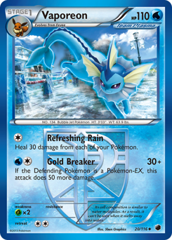 Vaporeon card for Plasma Freeze