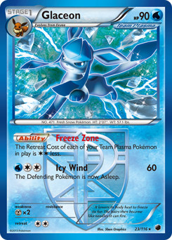 Glaceon card for Plasma Freeze