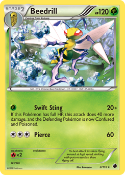 Beedrill card for Plasma Freeze