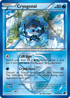 Cryogonal card for Plasma Freeze
